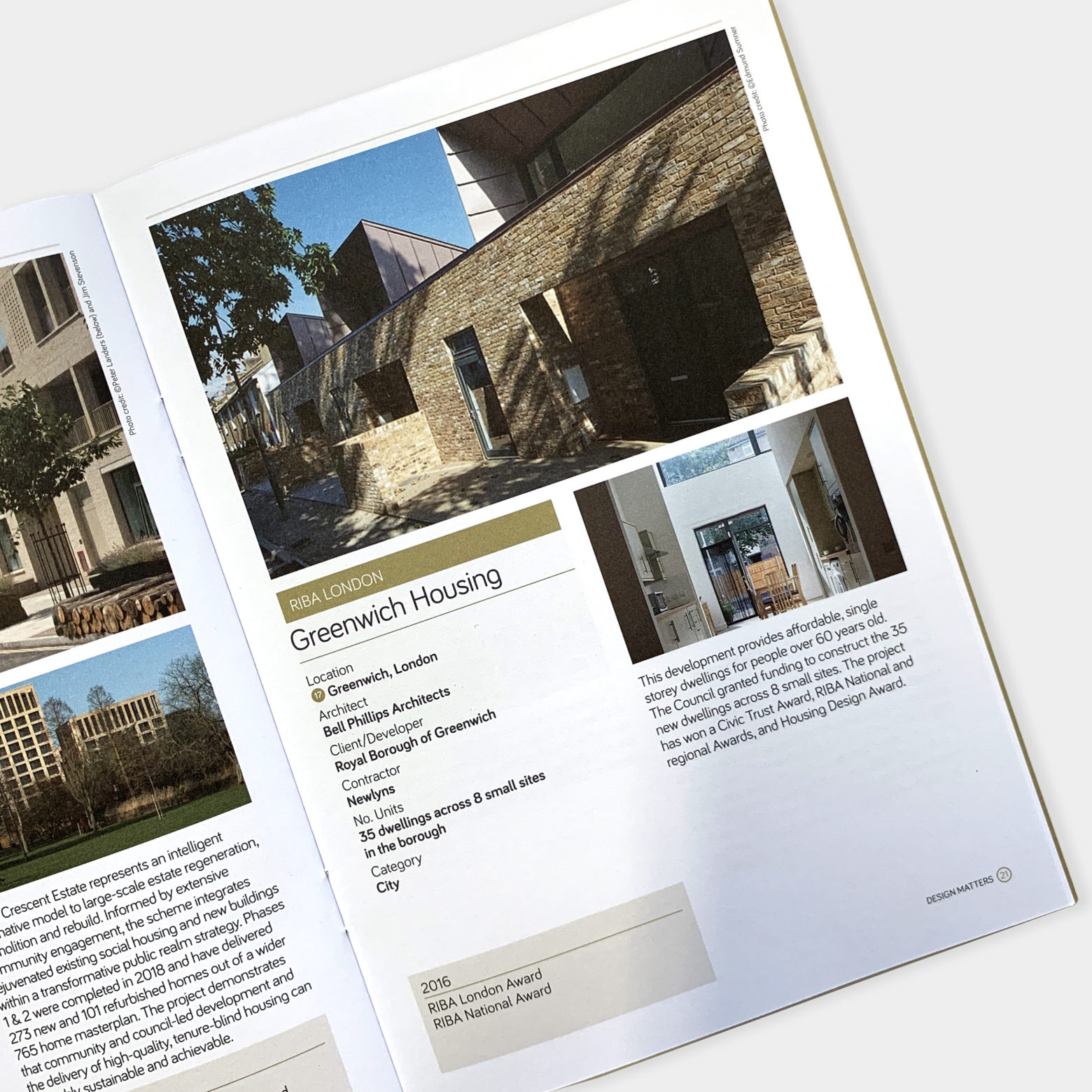 Projects included in RIBA reports
